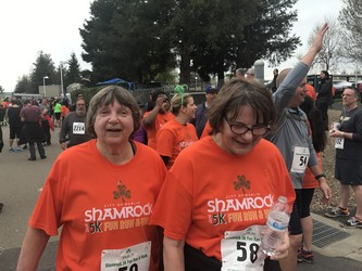 Sisters Finish a 5K run
