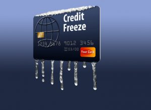 Credit card freeze