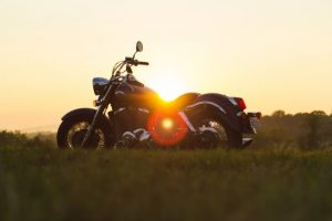 motorcycle in a Avondale sunset
