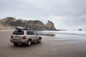 Hatchback on the shores in Florida
