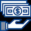 Hand holding Cash Icon